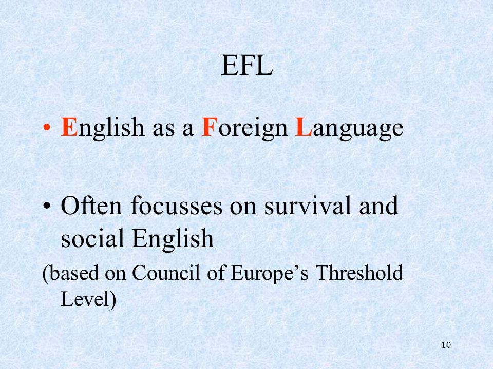 English as a second or foreign language - Wikipedia