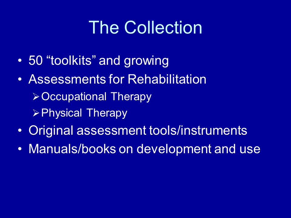 The Collection 50 toolkits and growing