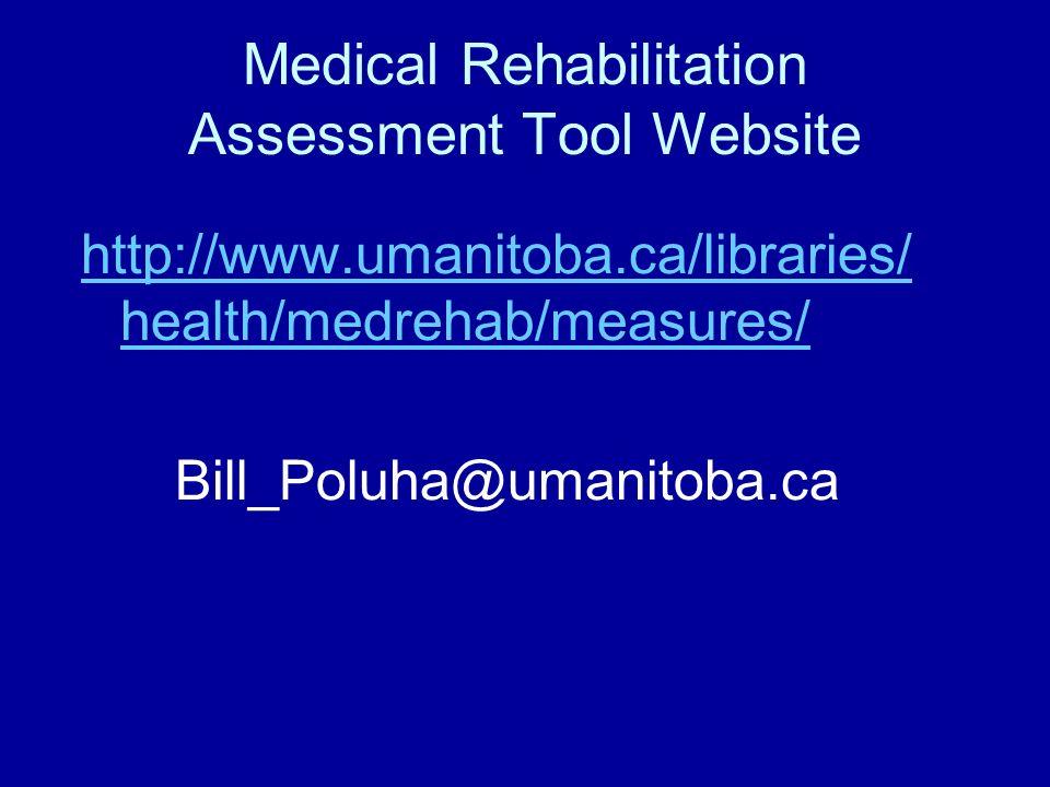 Medical Rehabilitation Assessment Tool Website