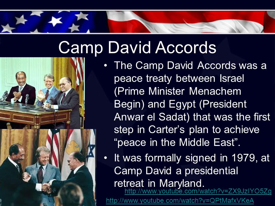 The Camp David Accord Between Egypt And Israel