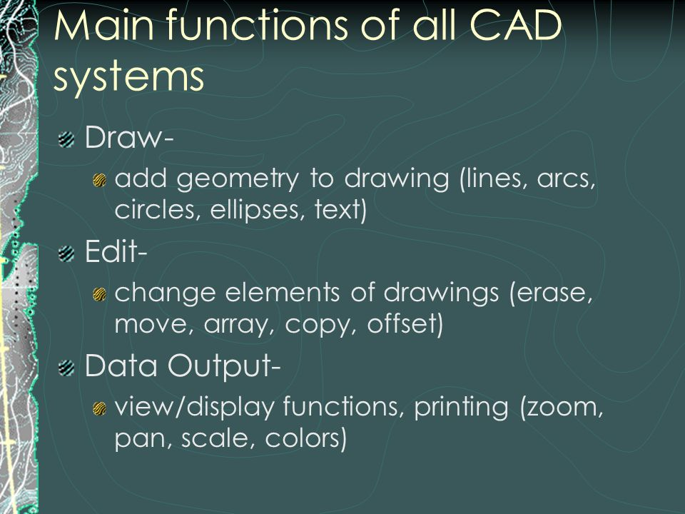 Functions Of Lines In Art : Computer aided design and drafting ppt download