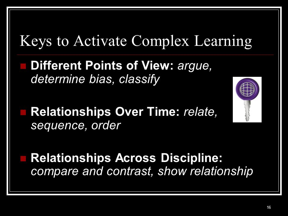 Keys to Activate Complex Learning