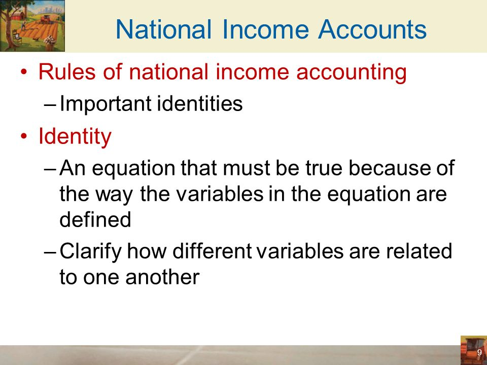 uses of national income accounting National income accounting is the methodology used in measuring the total output and income of the economy to begin to measure the output of the us economy we must understand the definition of what we call the gross domestic product.