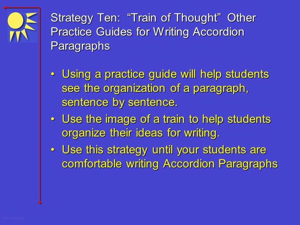 Accordion paragraph to essay