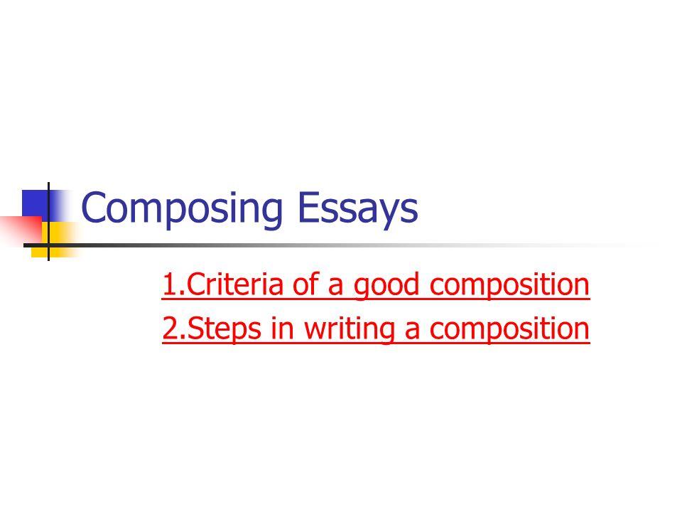 college essay criteria