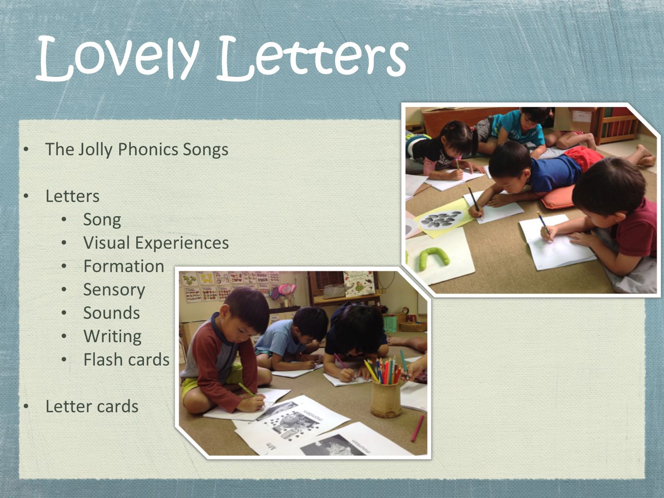Lovely Letters The Jolly Phonics Songs Letters Song Visual Experiences