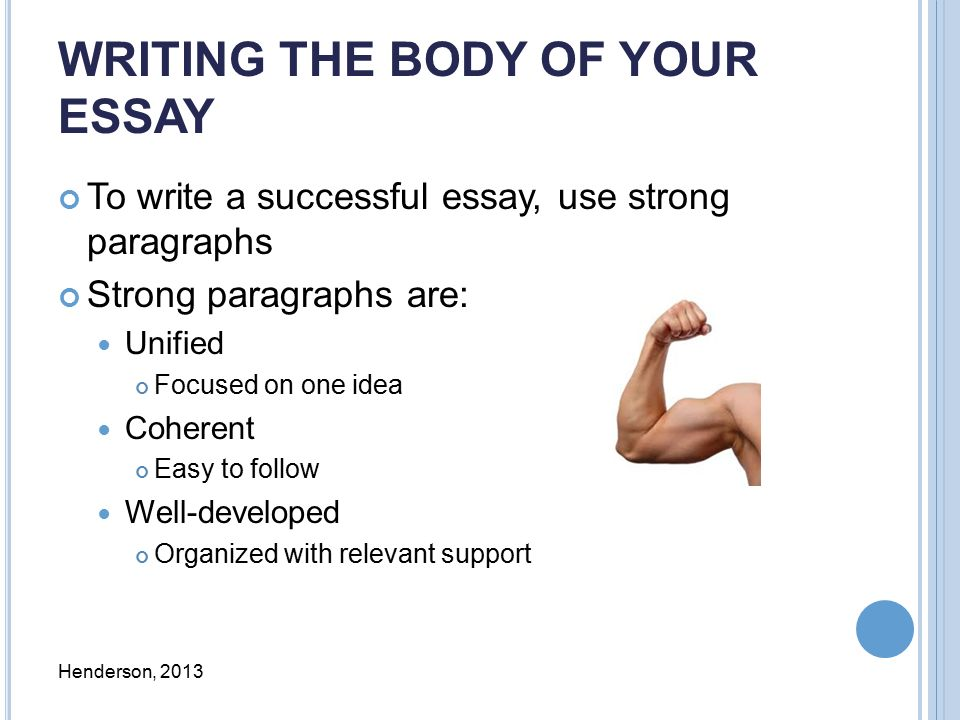 how to write body paragraphs for historical essays easy