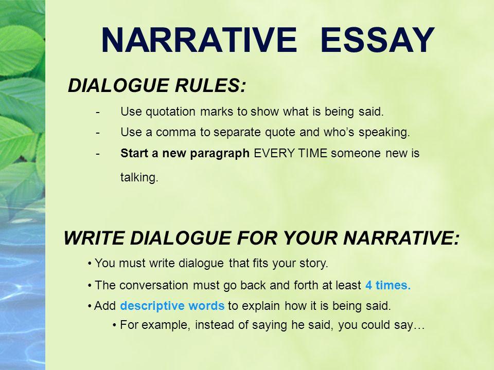 dialogue in essay