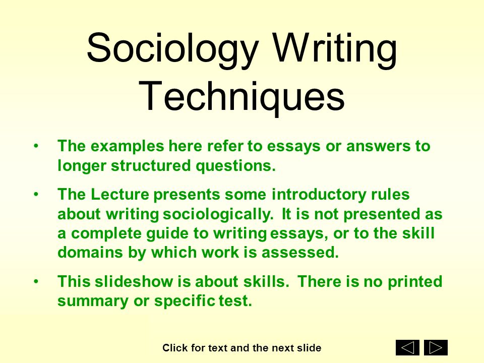 tips on writing sociology papers Sociology paper topics typically focus on an informative and/or argumentative writing approach where the writer examines a particular issue related to human behaviour issues dealing with race, gender, identity, and topics exploring why humans act a certain why are all relevant and fair game.