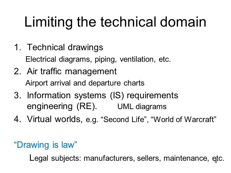 Limiting the technical domain
