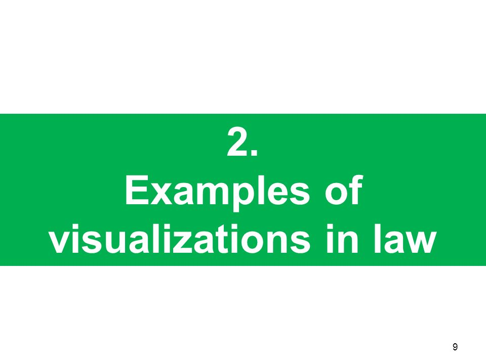 Examples of visualizations in law