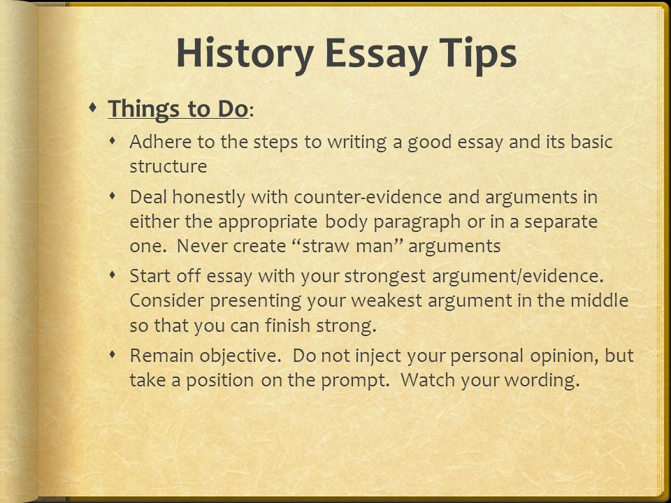 history essay technique A short essay is not a research essay and history abounds in conflict and each age has had to even in graduate school i had to learn this technique.