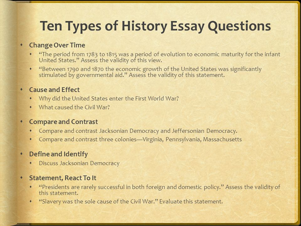 World Civilization Essays (Examples)