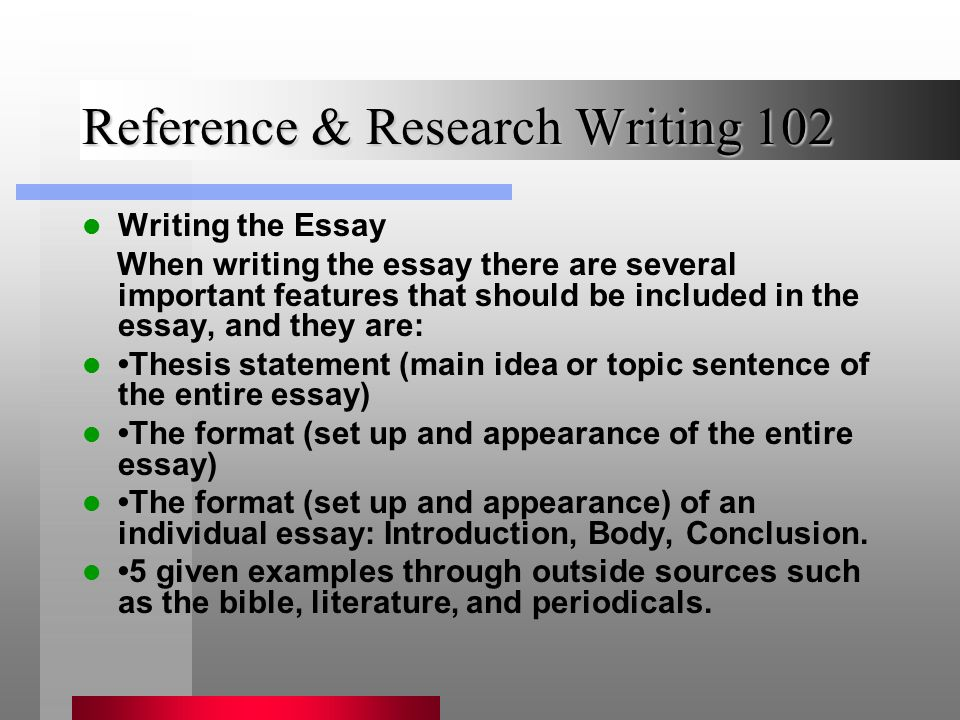 Essay appearance important