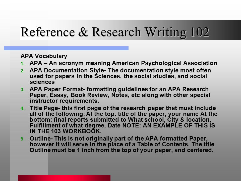 reference  u0026 research writing ppt video online download