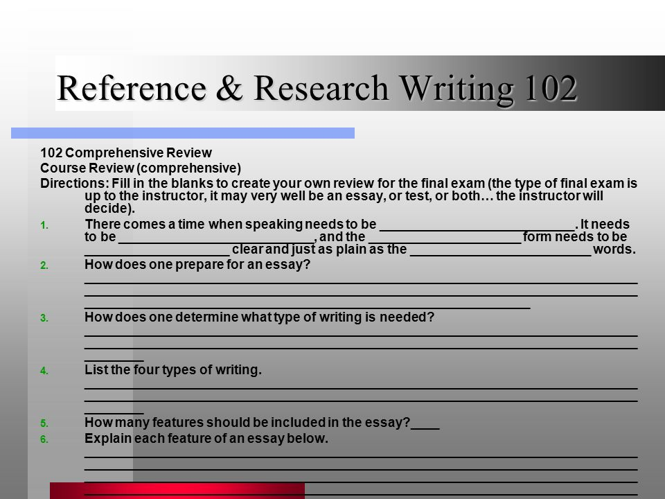 reference research writing ppt