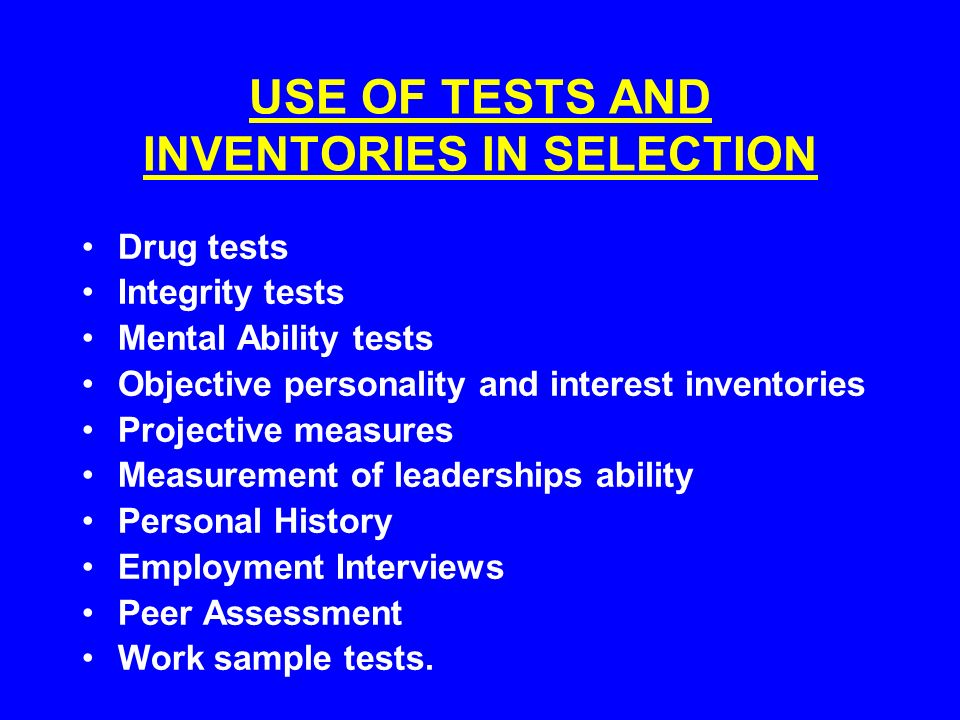 foundations of selection