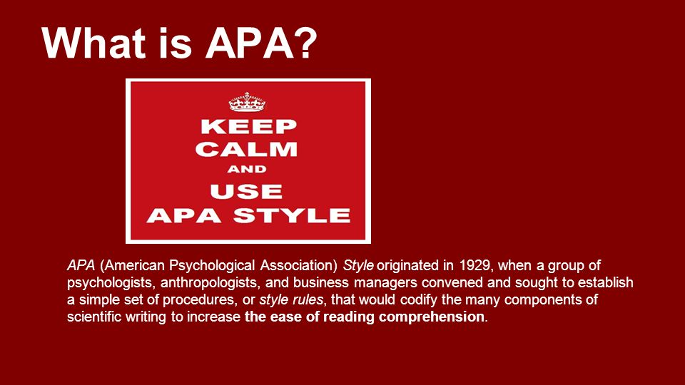 american psychological association style of writing