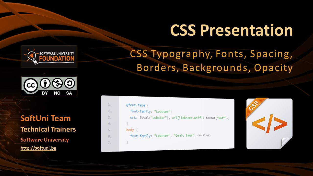 Background image css opacity - Css Typography Fonts Spacing Borders Backgrounds Opacity
