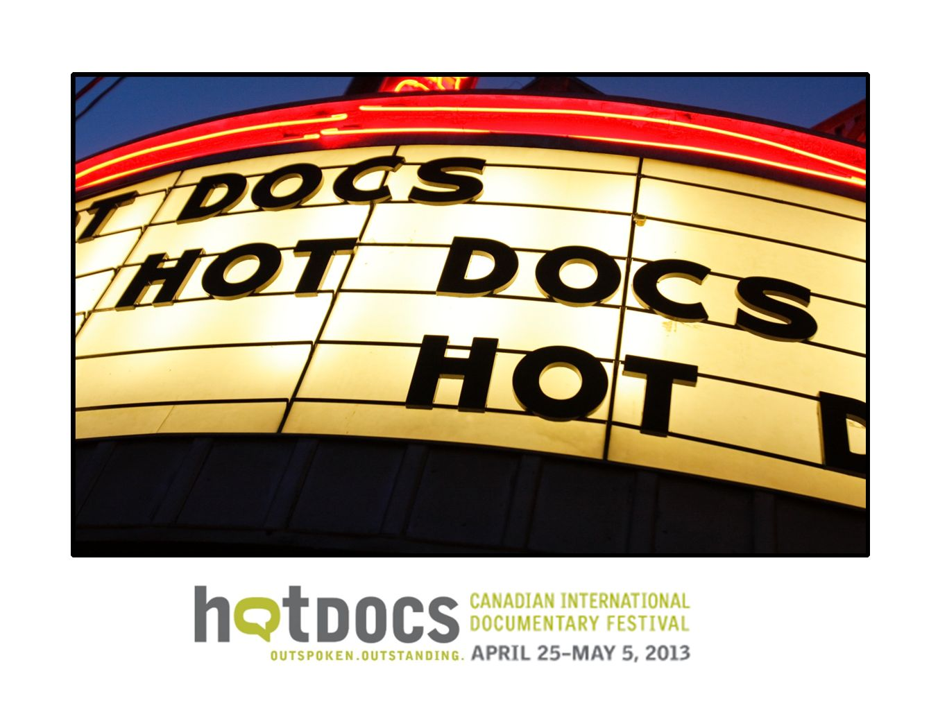 Thank you! I m elizabeth radshaw Hot Docs Industry Programs Director. Tell you more. - Hot Docs our activities also tell you about.