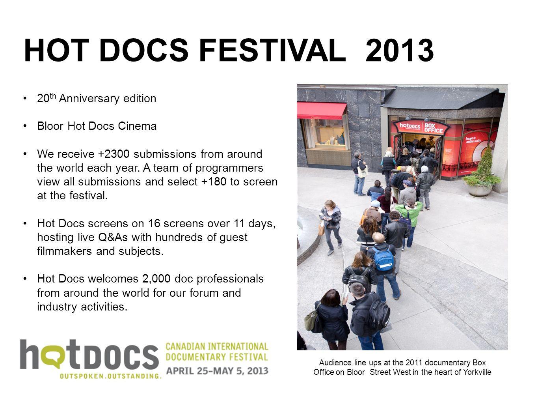 HOT DOCS FESTIVAL 2013 20th Anniversary edition. Bloor Hot Docs Cinema.