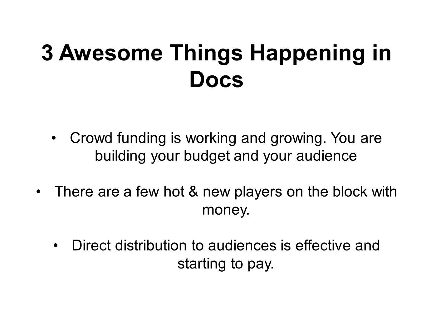 3 Awesome Things Happening in Docs