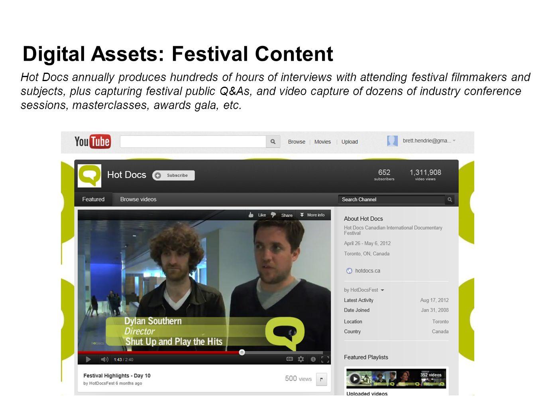 Digital Assets: Festival Content