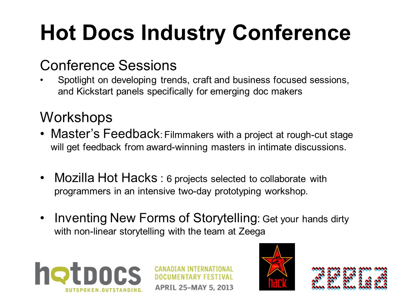 Hot Docs Industry Conference