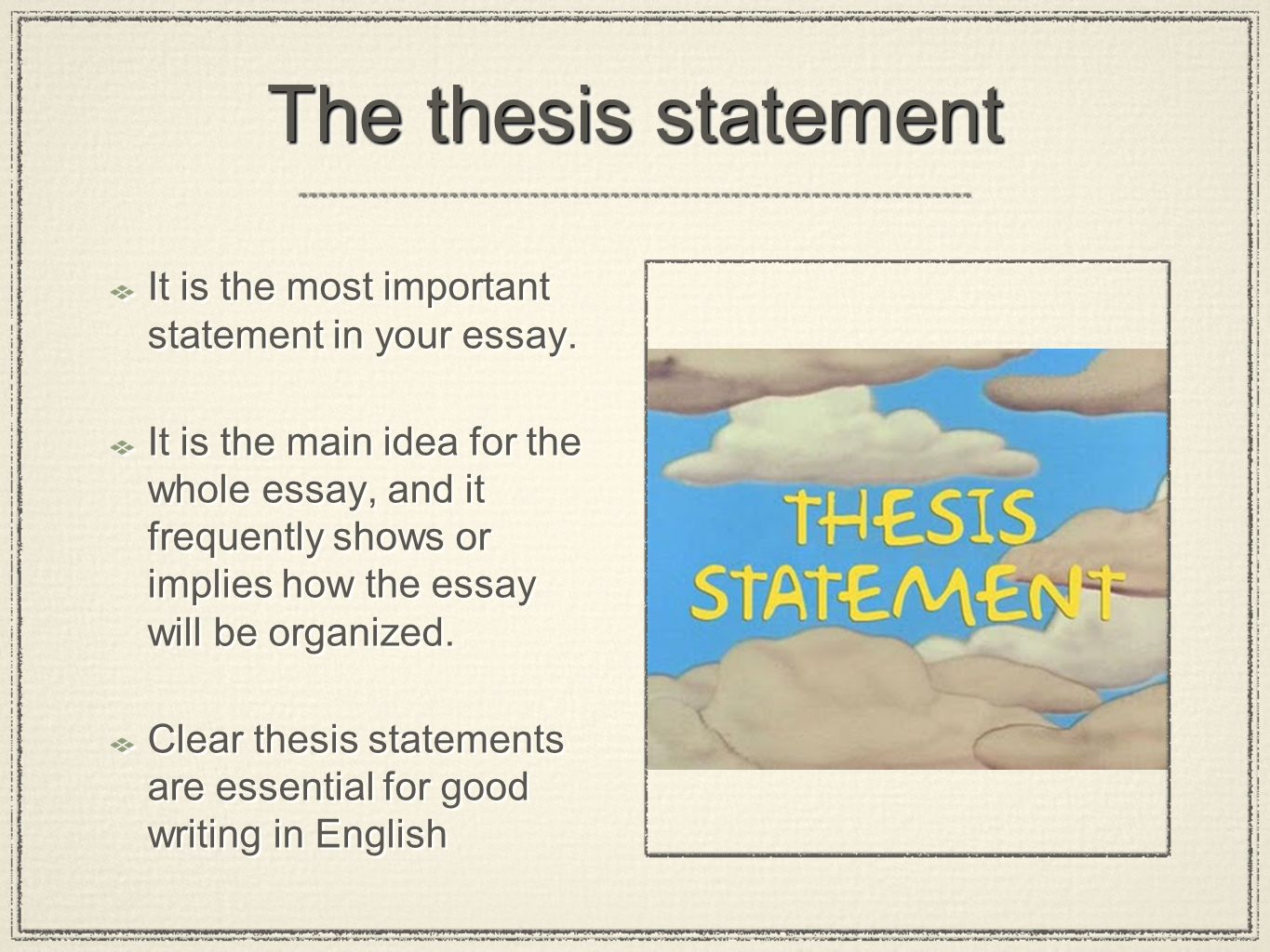 Understanding the importance of hypothesis in a thesis