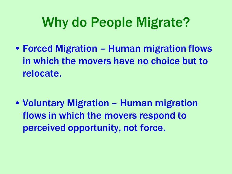 How Human Migration Works