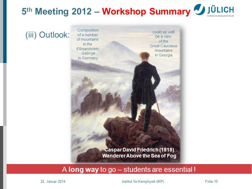 5th Meeting 2012 – Workshop Summary
