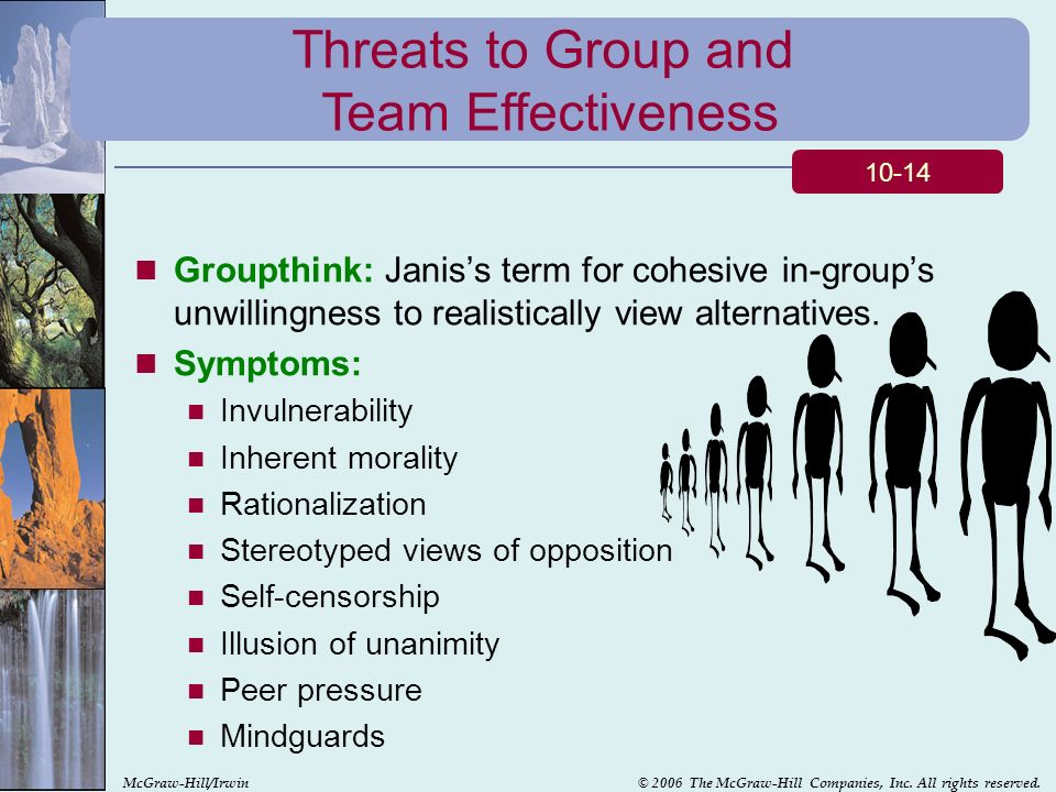 threats to group effectiveness A swot analysis is a • the posting of the ideas vs the yelling minimizes the reactionary processing and group program/unit effectiveness.