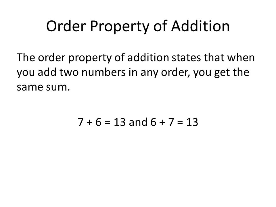 Inverse Property Of Addition States