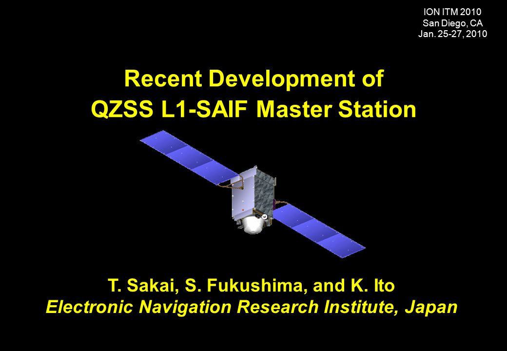 Introduction QZSS QuasiZenith Satellite System Program Ppt - Recent satellite pictures
