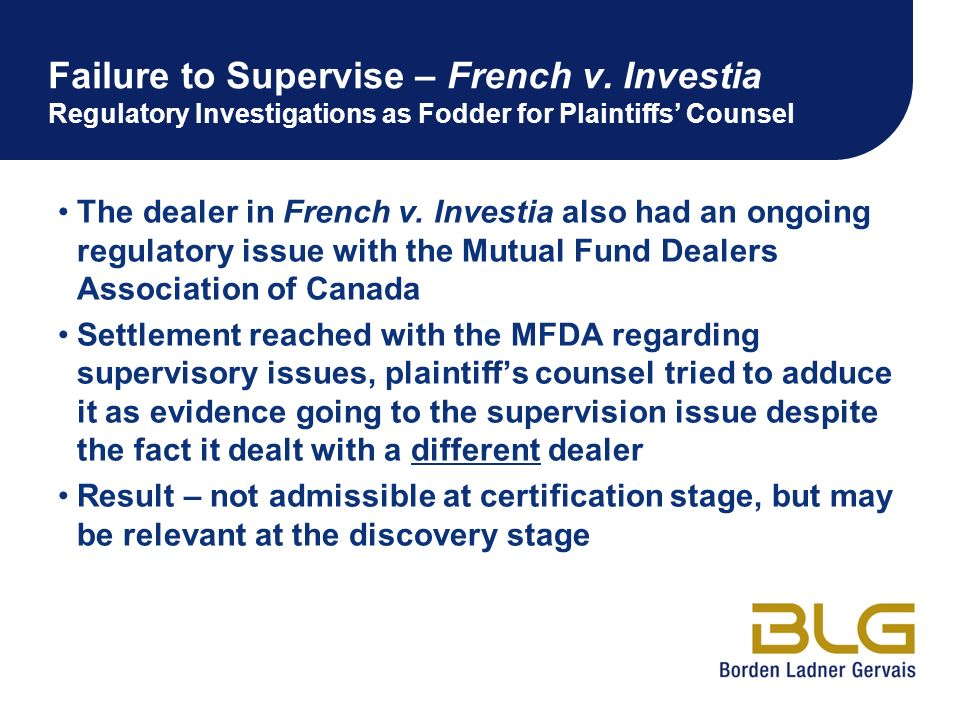 Failure to Supervise – French v