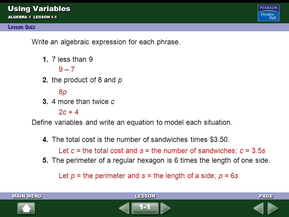 Write the operation (+, –, , ÷) that corresponds to each phrase ...
