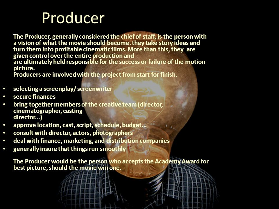 4 producer selecting - Duties Of A Producer