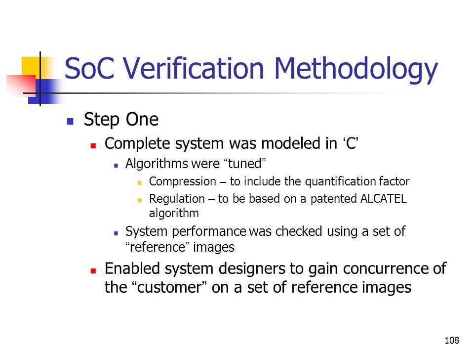 SoC Verification Methodology