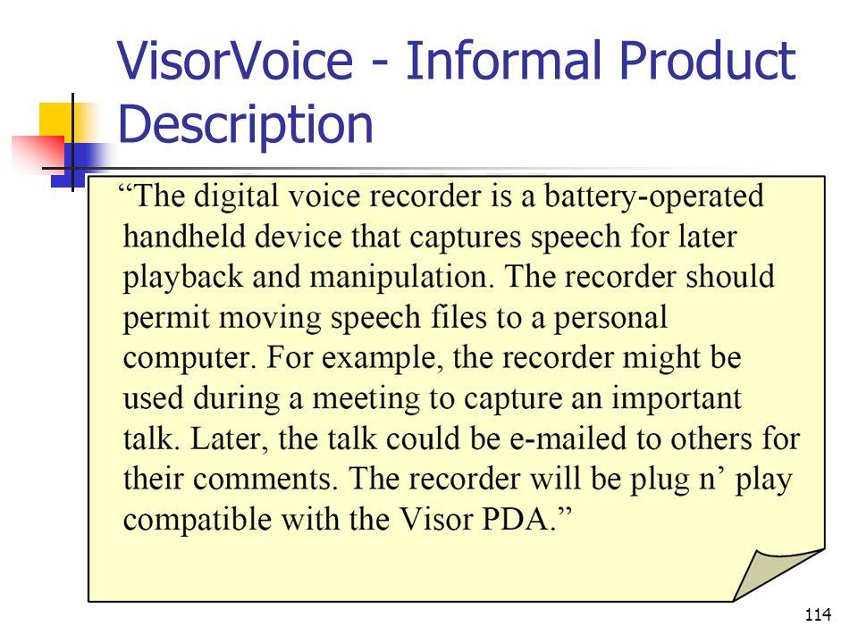 VisorVoice - Informal Product Description