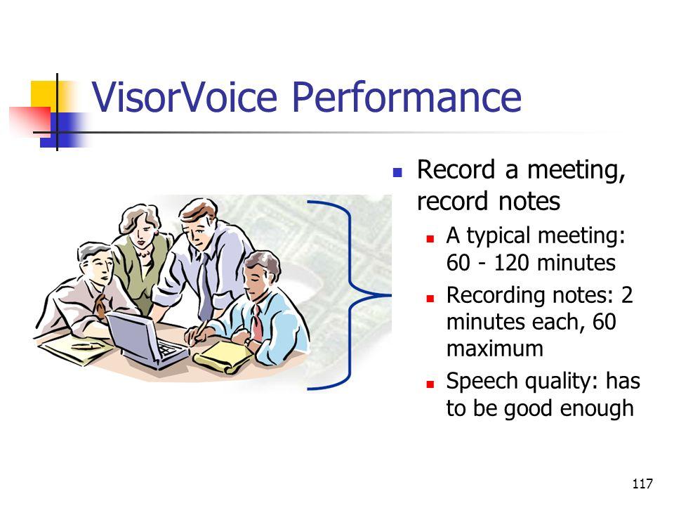 VisorVoice Performance