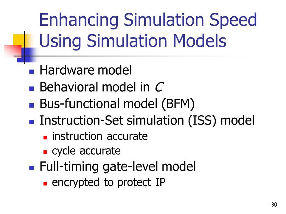 Enhancing Simulation Speed Using Simulation Models