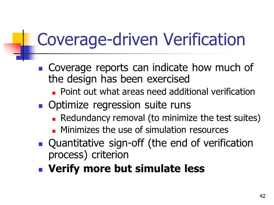 Coverage-driven Verification