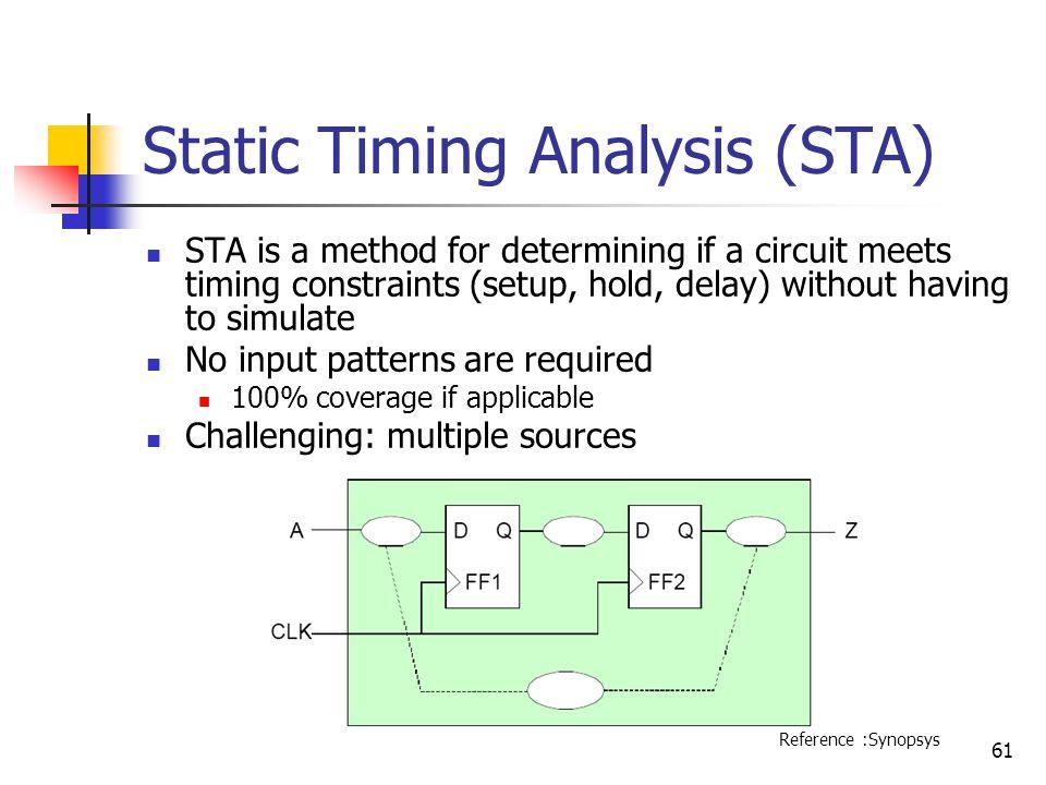 Static Timing Analysis (STA)