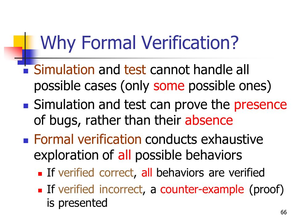 Why Formal Verification