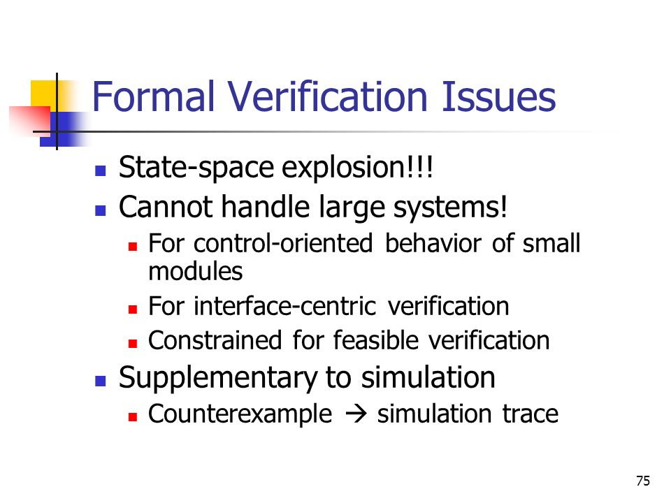Formal Verification Issues