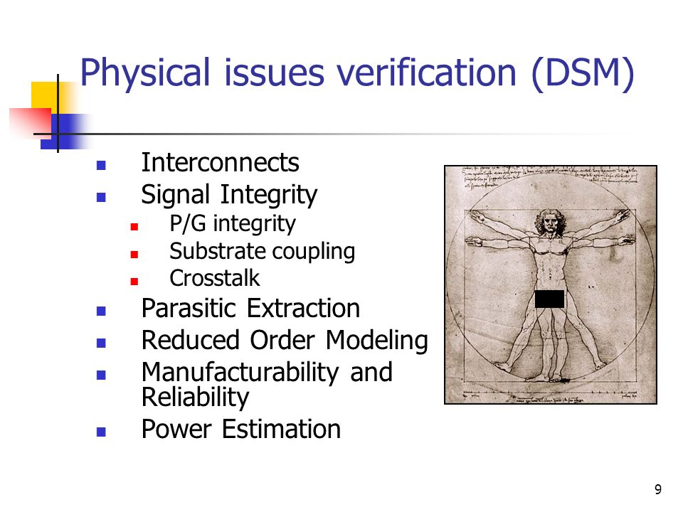 Physical issues verification (DSM)