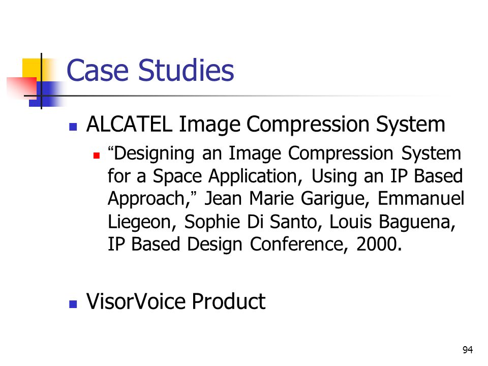 Case Studies ALCATEL Image Compression System VisorVoice Product