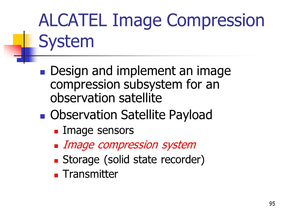ALCATEL Image Compression System