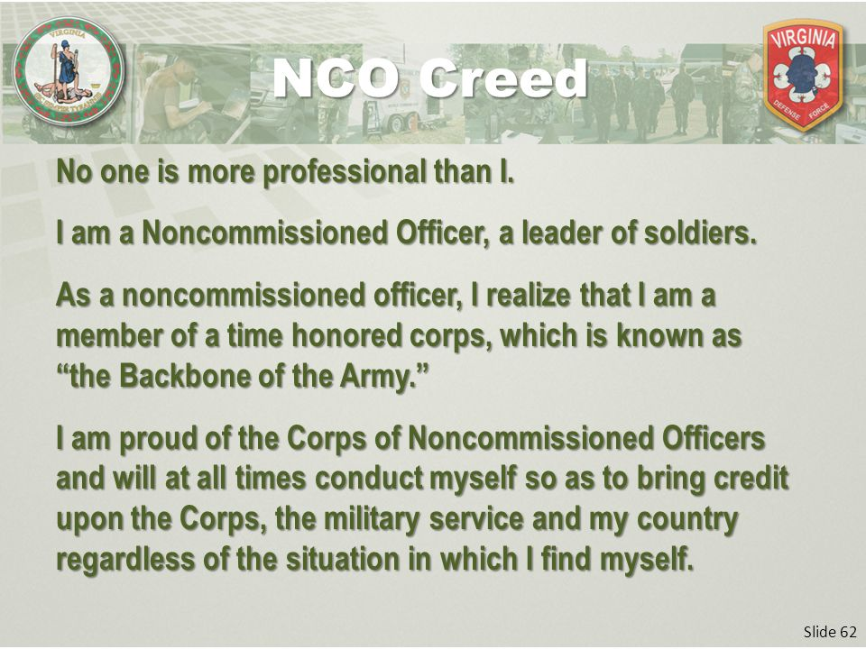 professional and soldiers creed It's important for each of us who wear the uniform to understand what it means to be a professional and a member of the profession of arms for me, the soldier's creed sums it up perfectly: i am an american soldier i am a warrior and a member of a team i serve the people of the united.
