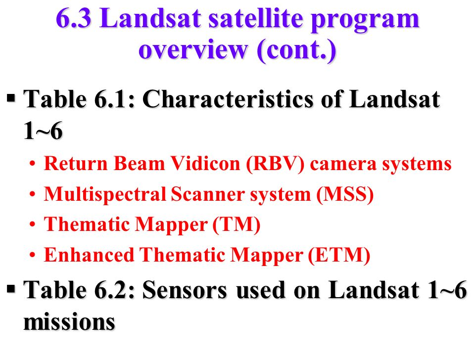 an overview of the landsat system Natural color aerial photographs acquired by a 35mm camera systems over 33 counties in eastern south dakota landsat 8 oli/tirs level-2 data products an overview of the tri-decadal global landsat orthorectified data collection.